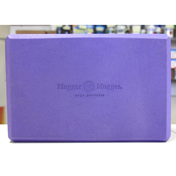 Foam Block 4 inch, Purple Block, Hugger Mugger Yoga Products