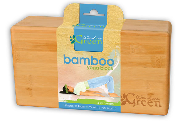 Wai Lana Green™ Bamboo Yoga Block